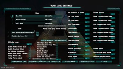 Best options for ark in medium settings